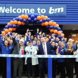 Picture Of Party atmosphere as new Bandamp;M Bargains store opens in Derby
