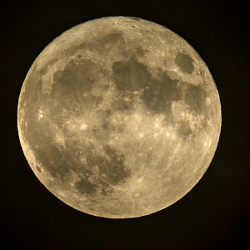 Picture Of Supermoon lights up sky over Gloucestershire