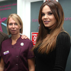 Picture Of Former Blue singer and ex TOWIE star open Ilkeston pregnancy clinic