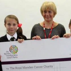 Picture Of Woodmansterne Primary School children raise money for Royal Marsden Hospital`s children`s ward